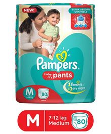 Pampers Pant Style Diapers Medium - 80 Pieces