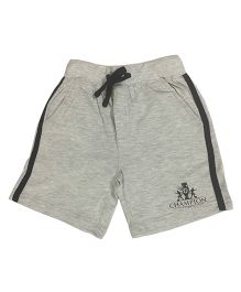 Kiddopanti Shorts With Drawstring Champion Print - Grey
