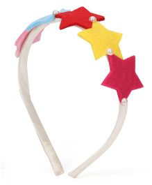 Sugarcart Sequence of Multi coloured Stars on hairband - Multi