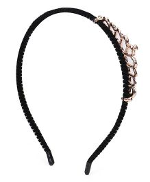 Sugarcart Princess Diamond Studded Crown Hairband - Silver
