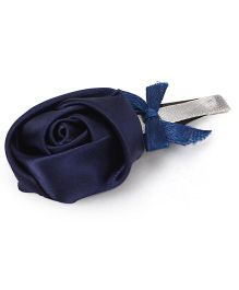Sugarcart Satin Rose with Bow on Tictak Clip - Blue