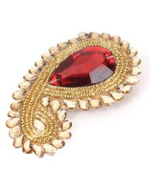 Sugarcart Rich Ethnic studded Motifs clip - Red