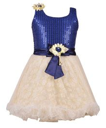 Aarika Girl's Premium Party Wear Dress - Blue