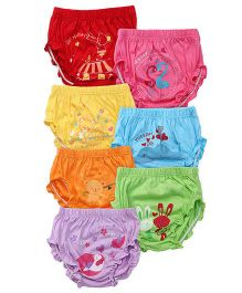 Simply Panties Multi Print Pack Of 7 - Multi Color