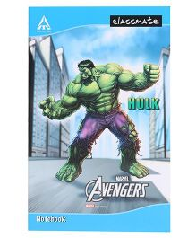 Marvel Classmate Long Notebook Hulk Print Single Line Ruling - 72 Pages Hulk Print