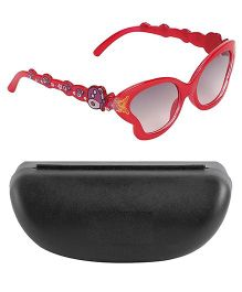 Kidofash Butterfly Design Sunglasses With Hard Case - Red