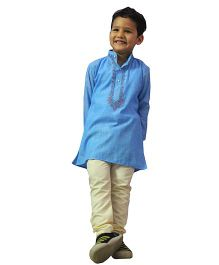 BownBee Embroidered Kurta Payjama - Blue