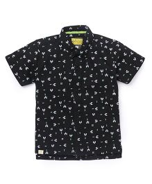 Gini & Jony Half Sleeves Printed Shirt - Black
