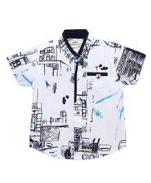 Gini & Jony Half Sleeves Printed Shirt - Bright White