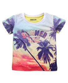 Gini & Jony Half Sleeves Tee Summer Time Print - Multicolor