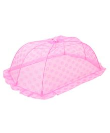 Babyhug Star Design Mosquito Net Medium - Dark Pink