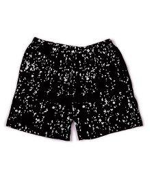 Pikaboo Printed Shorts - Black