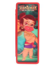 Hanuman Da Damdaar 3D Recticular Pencil Box - Red