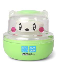 Papa Baby Powder Puff Panda Face Design - Green