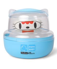 Papa Baby Powder Puff Kitty Face Design - Blue