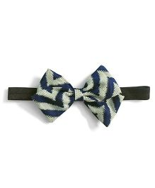 Knotty Ribbons Stripes Bow Hairband - Blue
