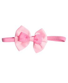 Miss Diva Elegant Double Bow Soft Headband - Light Pink