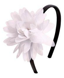 Miss Diva Classy Flower Soft Hairband - White