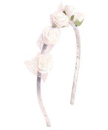 Miss Diva Multi Roses Hairband - White