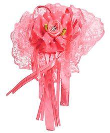 Miss Diva Beautiful Big Net Rose Hairband - Coral