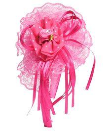Miss Diva Beautiful Big Net Rose Hairband - Magenta