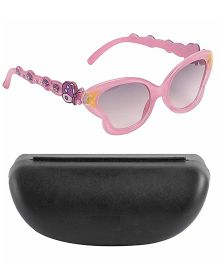 Miss Diva Smart Butterfly Sunglasses With Case - Light Pink