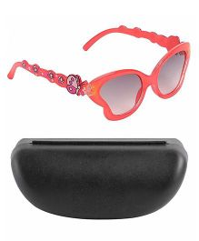 Miss Diva Smart Butterfly Sunglasses With Case - Orange