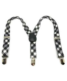 Miss Diva Checkered Suspender - White & Black