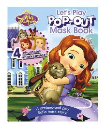 Disney Sofia The First Lets Play Pop Out Mask Book - English
