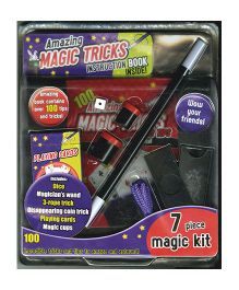 Amazing Magic Tricks Instruction Book Inside (7 Piece Magic Kit) - English