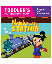 Naisha At The Station Story Book With Pictures - English