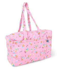 Mee Mee Nursery Bag With Insulated Bottle Holder - Pink