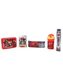 Marvel Spider Man School Kit Pack of 5 - Multicolour