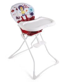Graco High Chair Circus Print - Red White