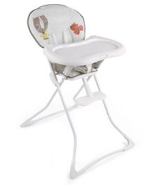 Graco High Chair Tea Time - White Grey
