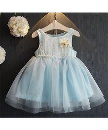Wonderland Pearl Embellished Tutu Dress - Blue