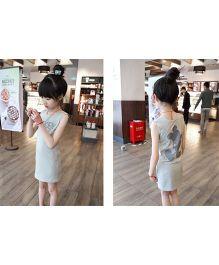 Wonderland Stylish Bodycon Dress - Grey