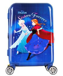 Gamme Disney Frozen Kids Luggage Trolley Bag Navy Blue - 20 Inches