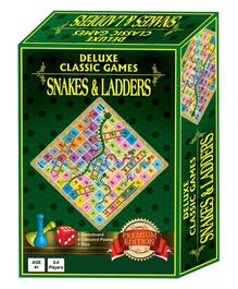 Sterling Deluxe Classic Games Snakes & Ladders - Green