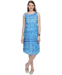 Morph Jaipuri Print Maternity Dress - Blue
