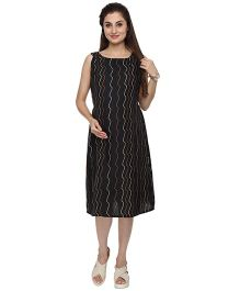 Morph Flowy Maternity Dress - Black