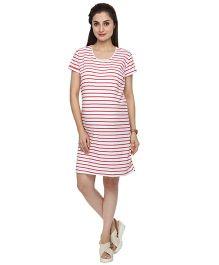 Morph Maternity T-Shirt Dress - Red White