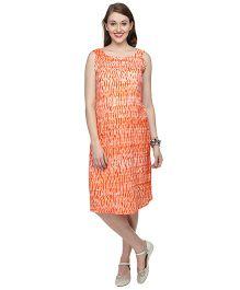 Morph Jaipuri Print Maternity Dress - Orange