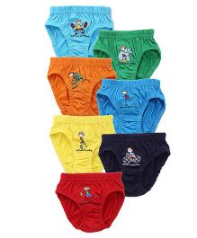 Simply Briefs Printed Pack Of 7 - Multiocolor