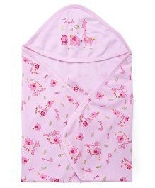 Simply Hooded Wrapper Printed - Pink