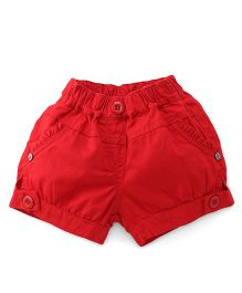 Olio Kids Plain Solid Color Shorts - Red