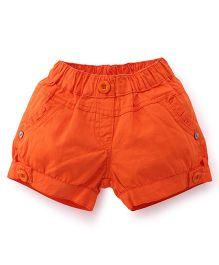 Olio Kids Plain Solid Color Shorts - Orange