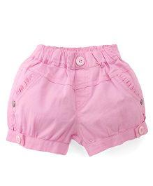Olio Kids Plain Solid Color Shorts - Light Pink