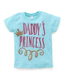 Playbeez Daddy's Princess Shimmer Tee - Teal Green
