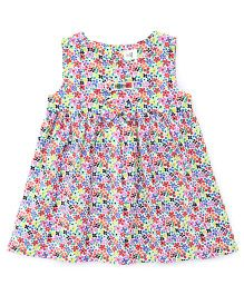 ToffyHouse Sleeveless Frock Floral Print - Multicolour